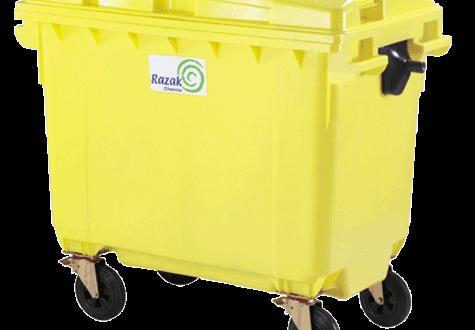 سطل زباله پلاستیکی مکانیزه