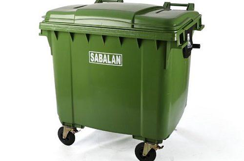 سطل زباله پلاستیکی مخزنی چرخدار