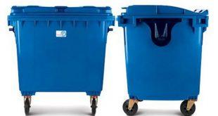 سطل زباله پلاستیکی شهری بزرگ