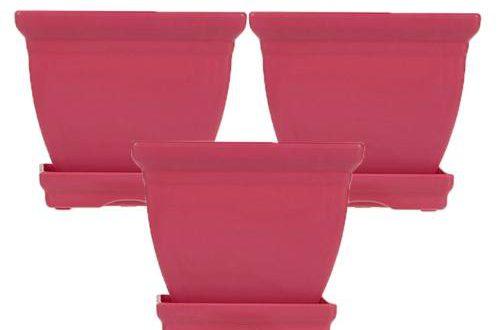 گلدان پلاستیکی چهار گوش رنگی
