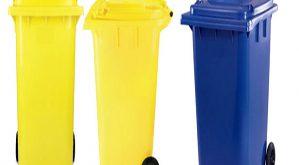 سطل زباله پلاستیکی شهری 320 لیتری