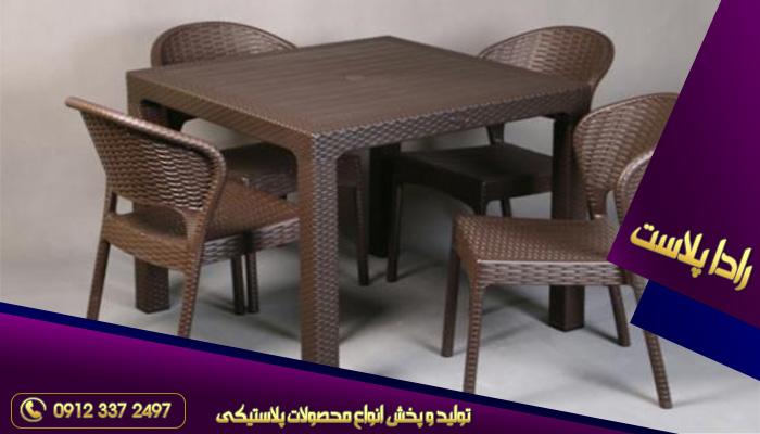 میز و صندلی پلاستیکی کافی شاپ